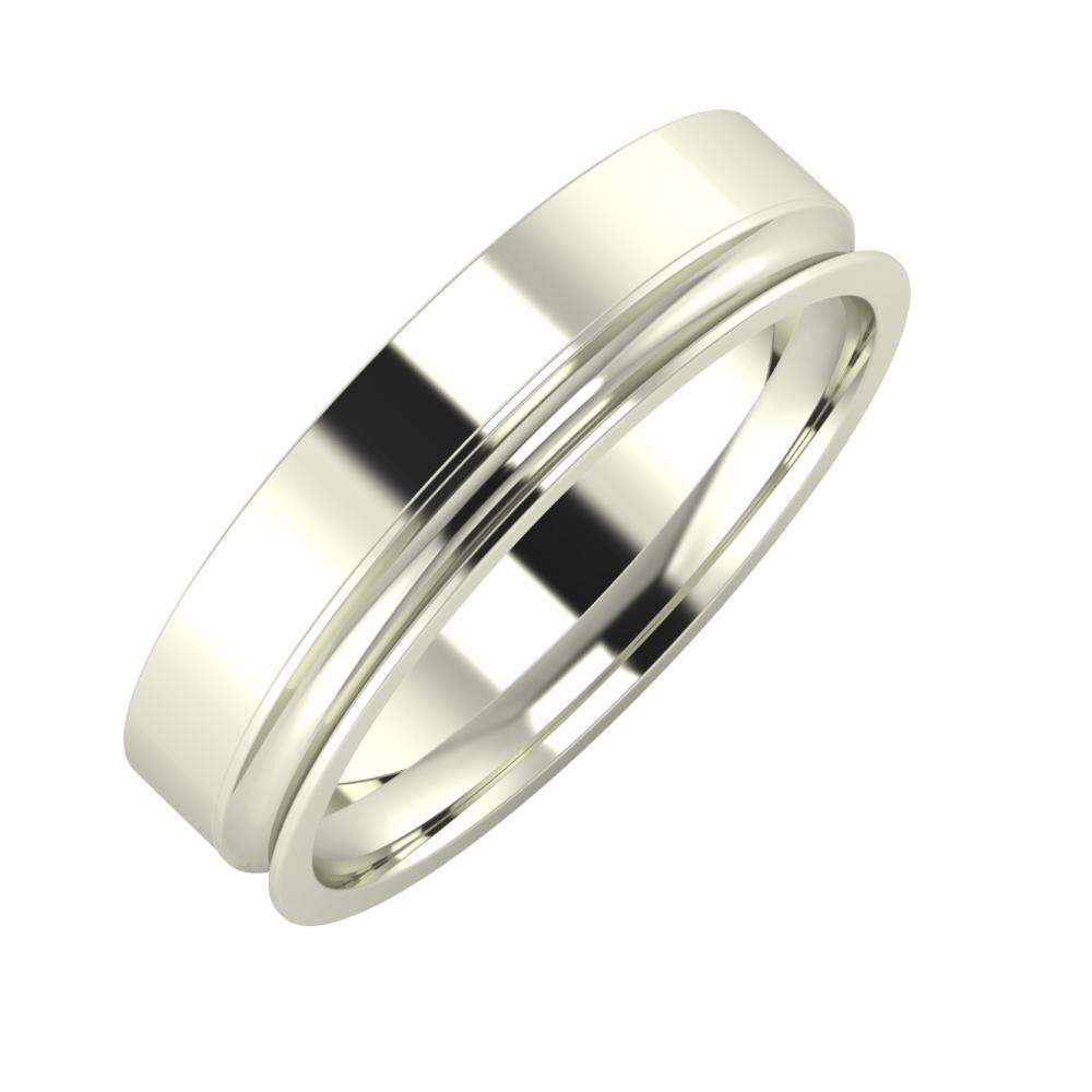 Adela - Alexandrina 5mm 18 karátos fehér arany karikagyűrű