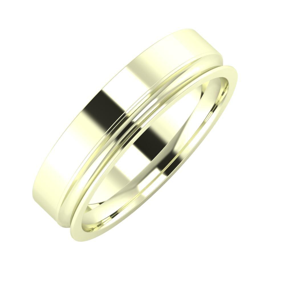 Adela - Alexandrina 5mm 22 karátos fehér arany karikagyűrű