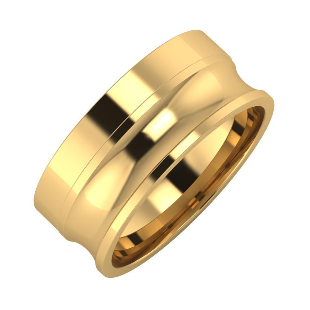 Adela - Alexandrina 8mm 18 karátos sárga arany karikagyűrű
