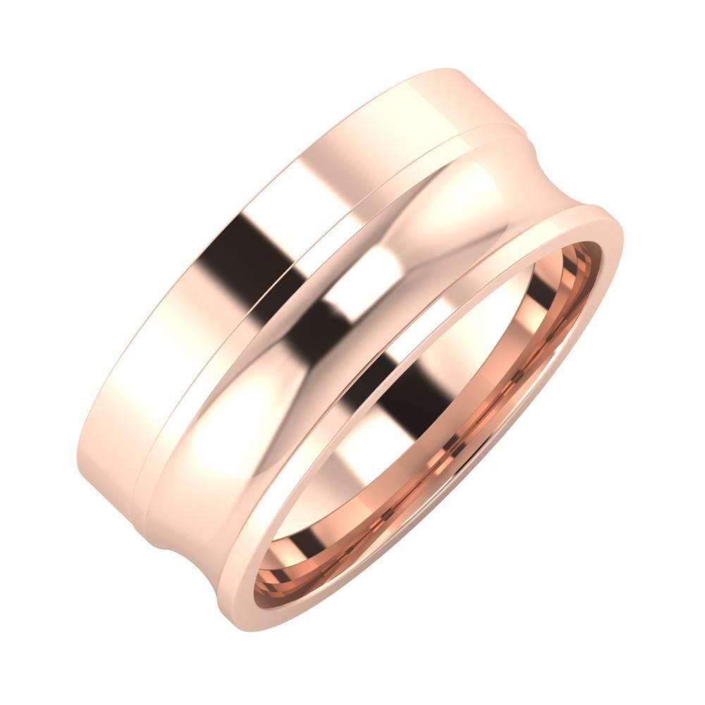 Adela - Alexandrina 8mm 14 karátos rosé arany karikagyűrű