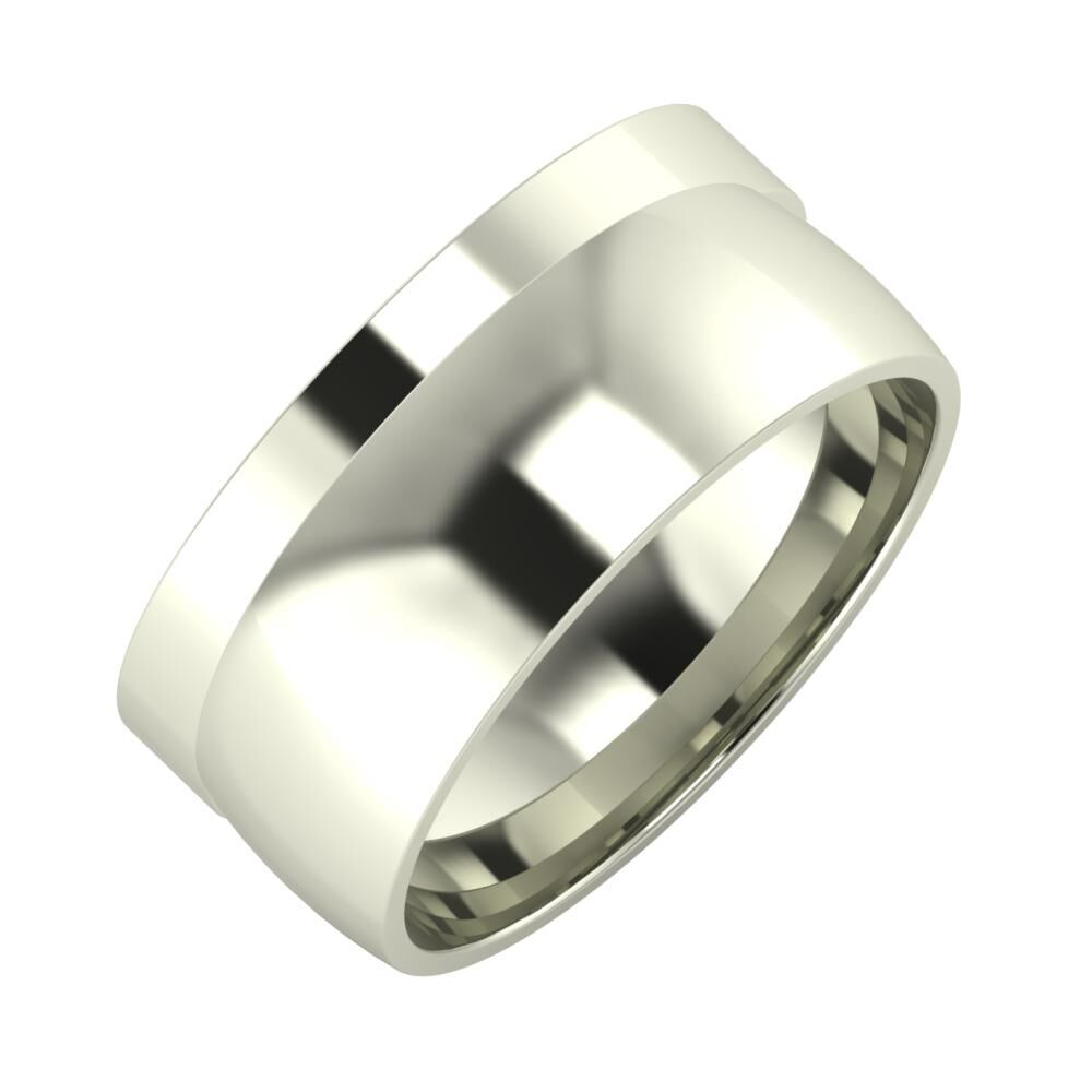 Adela - Alma 9mm 14 karátos fehér arany karikagyűrű