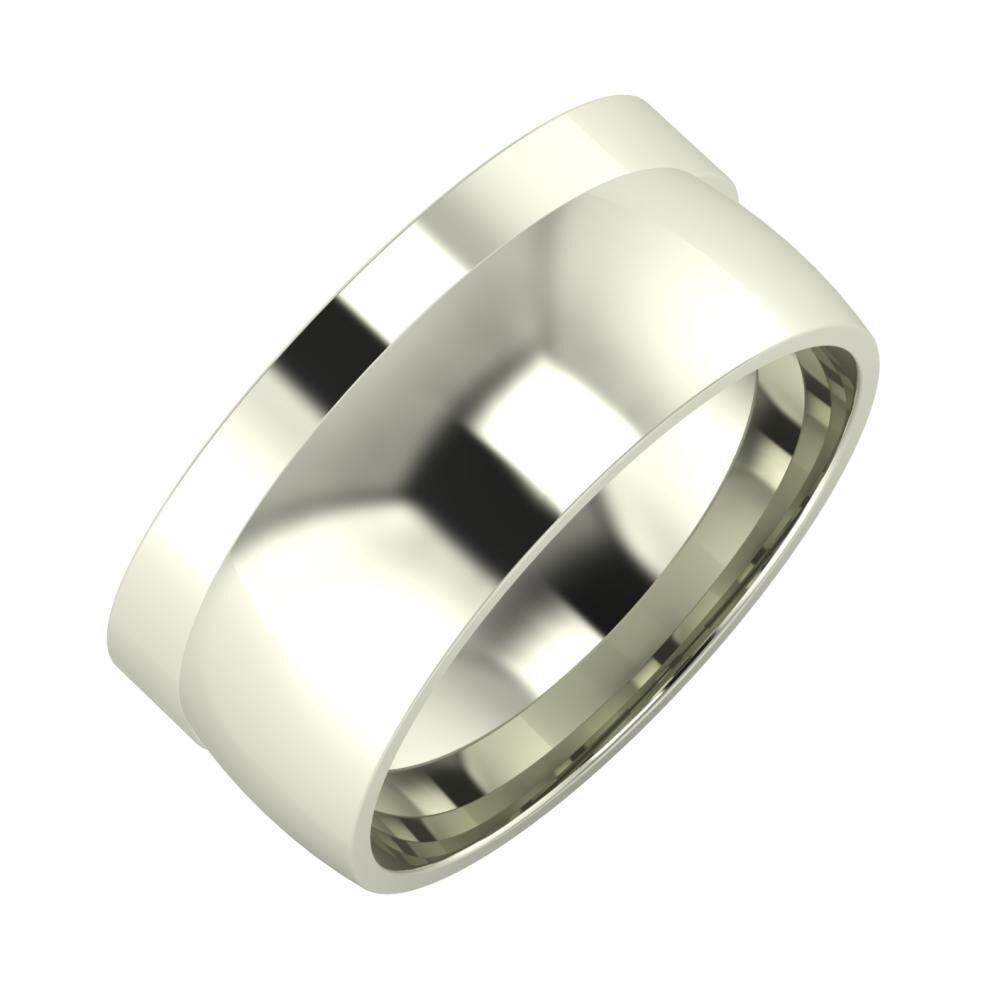 Adela - Alma 9mm 18 karátos fehér arany karikagyűrű