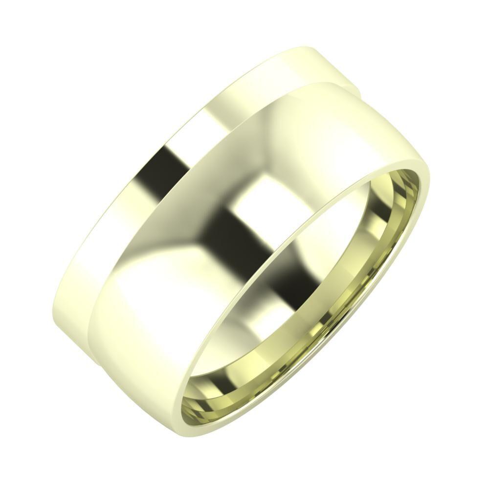 Adela - Alma 9mm 22 karátos fehér arany karikagyűrű