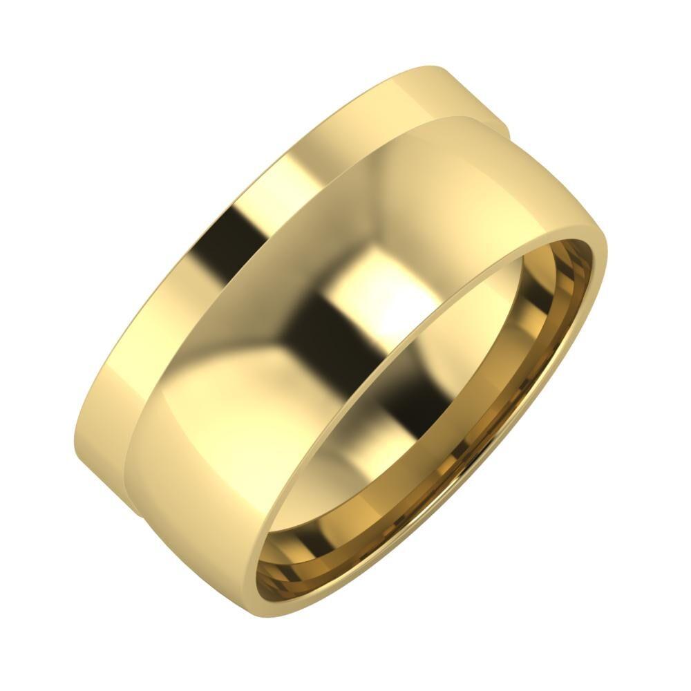 Adela - Alma 9mm 14 karátos sárga arany karikagyűrű