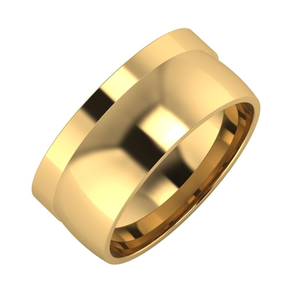 Adela - Alma 9mm 18 karátos sárga arany karikagyűrű