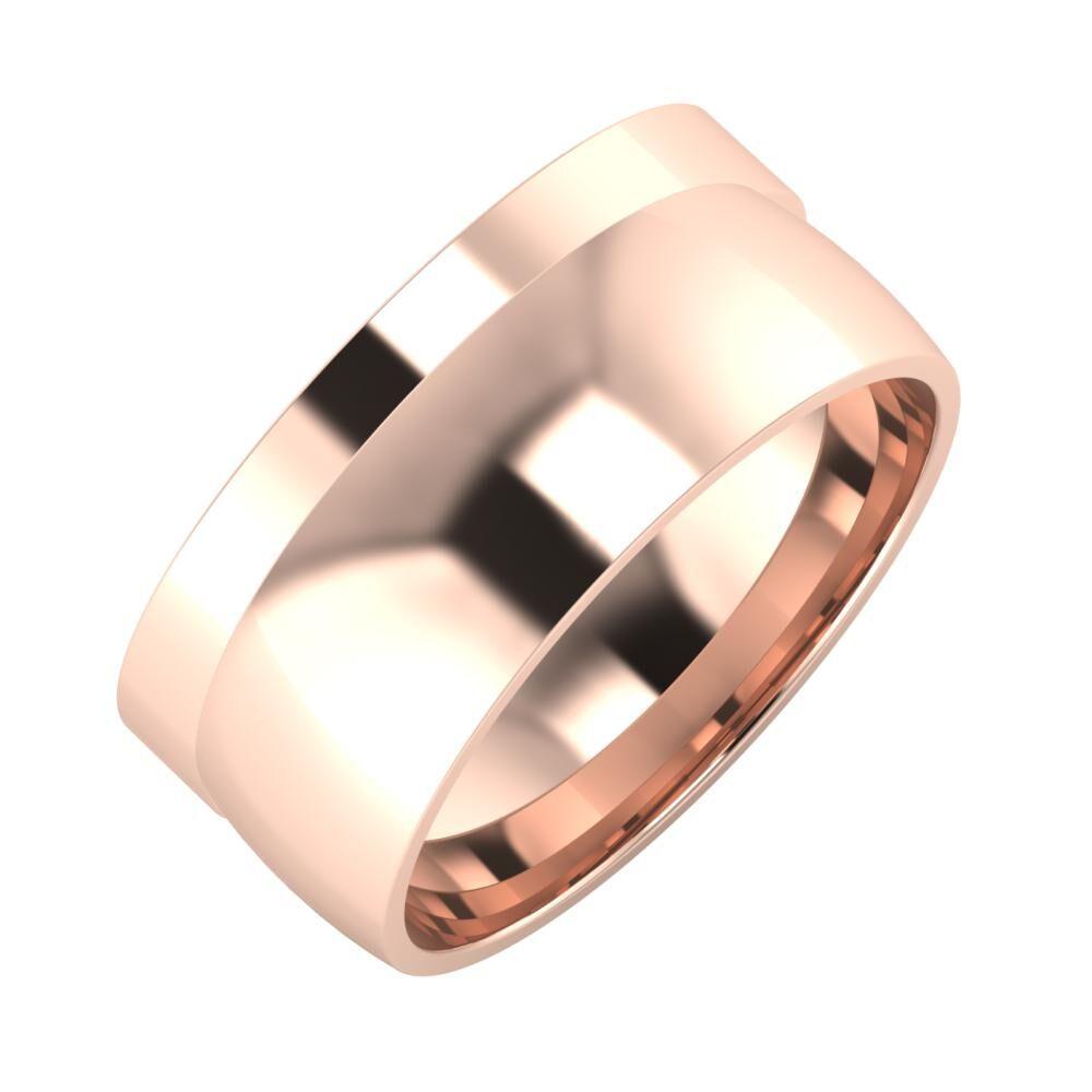 Adela - Alma 9mm 14 karátos rosé arany karikagyűrű