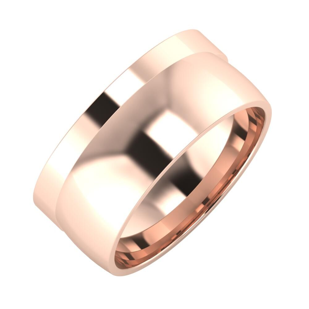 Adela - Alma 9mm 18 karátos rosé arany karikagyűrű