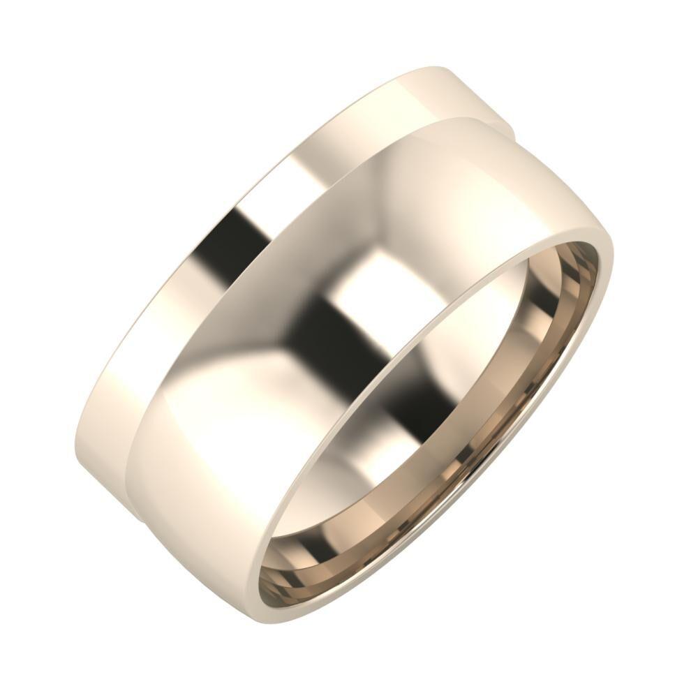 Adela - Alma 9mm 22 karátos rosé arany karikagyűrű