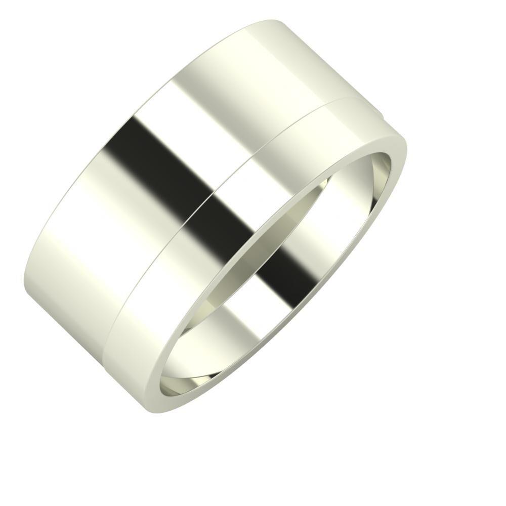 Adela - Adela 10mm 14 karátos fehér arany karikagyűrű