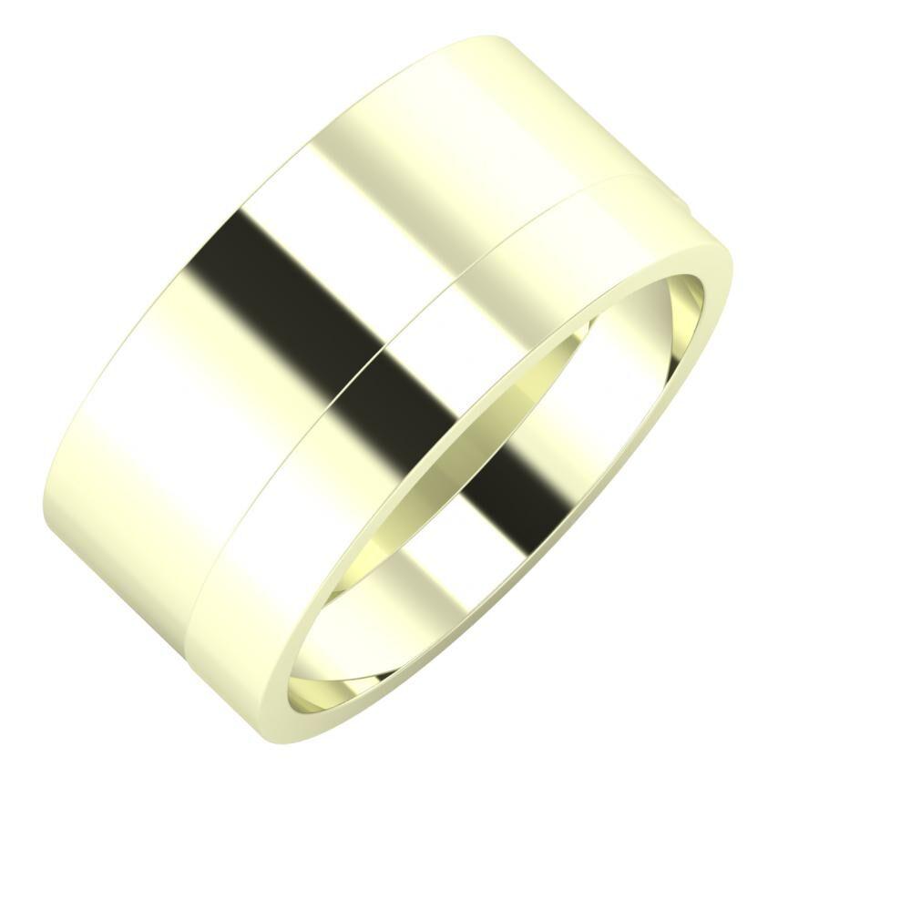 Adela - Adela 10mm 22 karátos fehér arany karikagyűrű