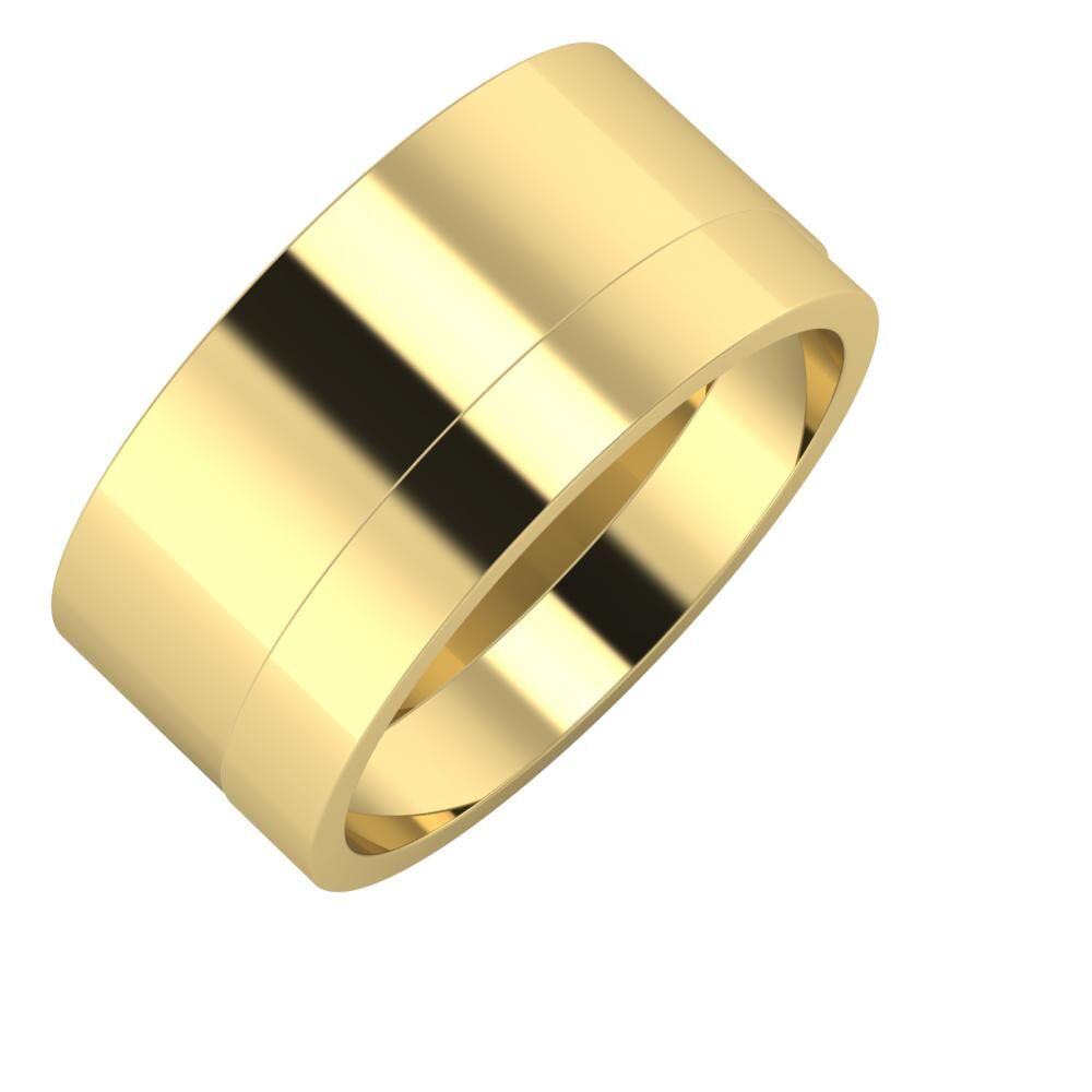 Adela - Adela 10mm 14 karátos sárga arany karikagyűrű