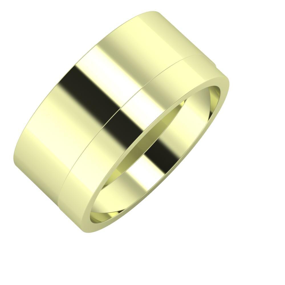 Adela - Adela 10mm 14 karátos zöld arany karikagyűrű