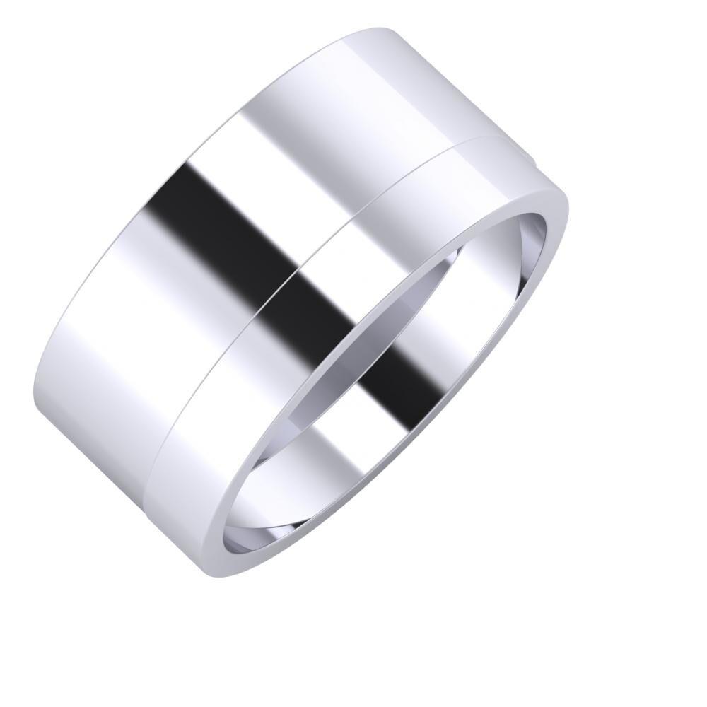 Adela - Adela 10mm platina karikagyűrű