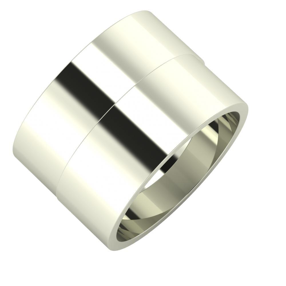Adela - Adela 14mm 18 karátos fehér arany karikagyűrű