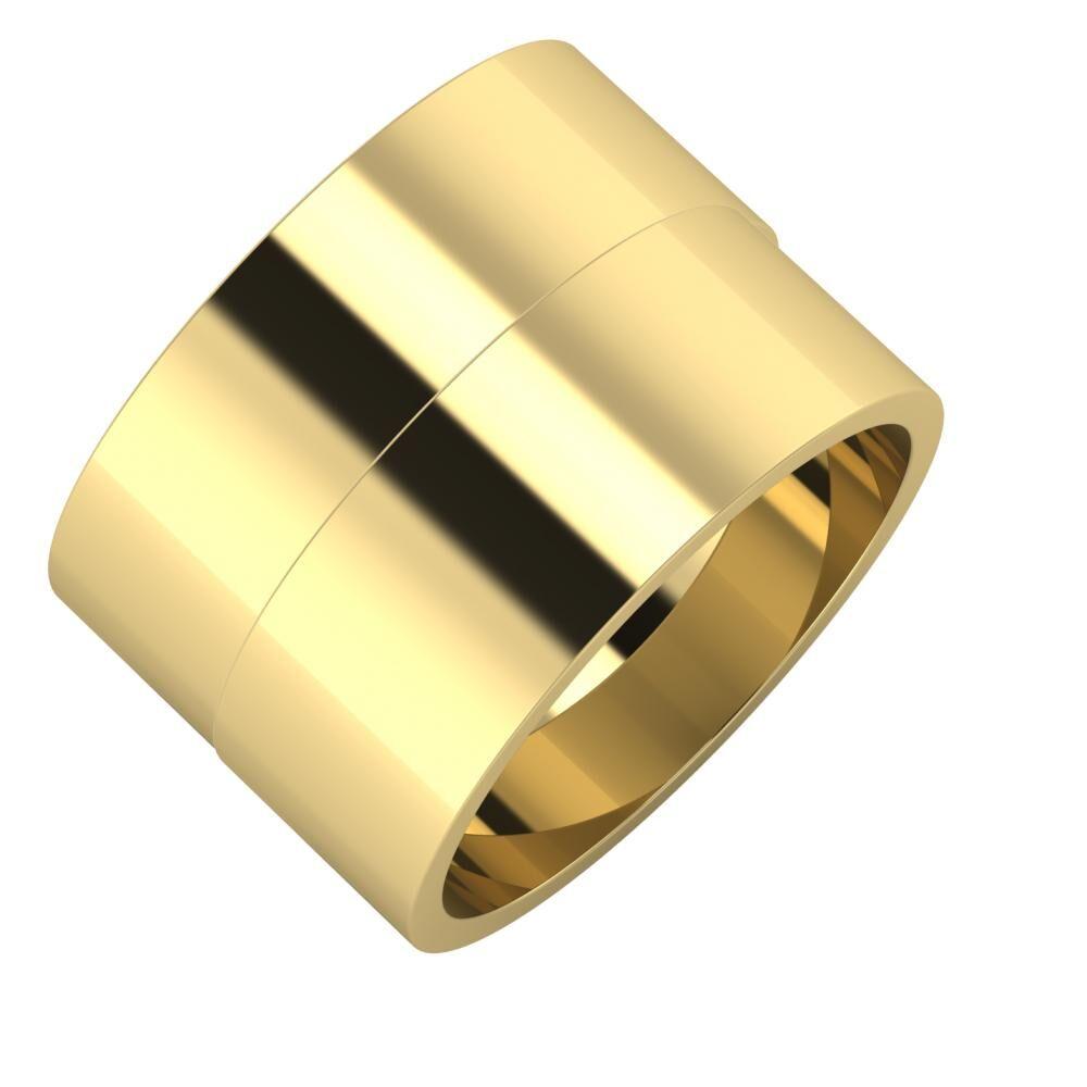 Adela - Adela 14mm 14 karátos sárga arany karikagyűrű