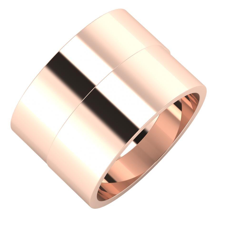 Adela - Adela 14mm 18 karátos rosé arany karikagyűrű