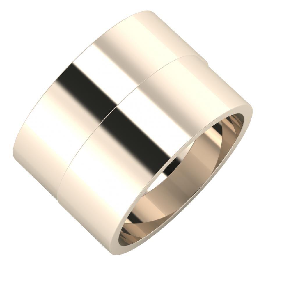 Adela - Adela 14mm 22 karátos rosé arany karikagyűrű