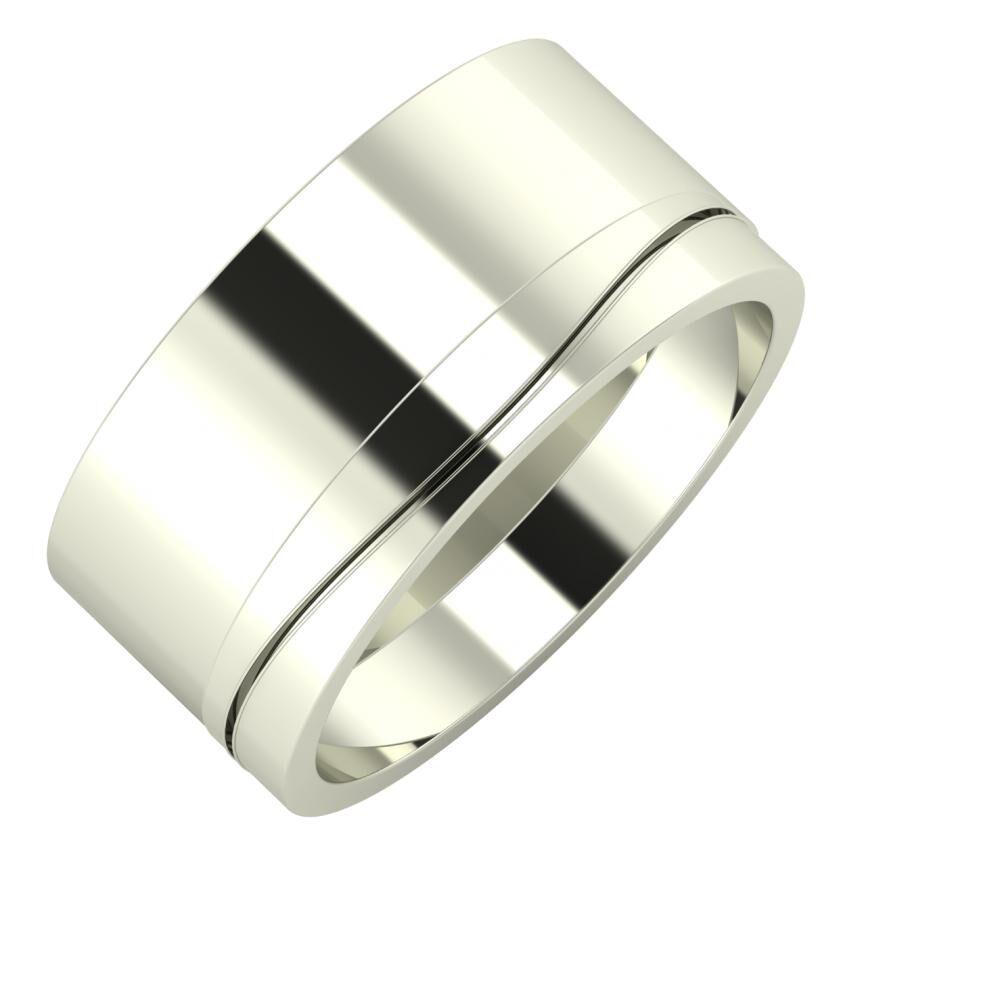 Adela - Adelinda 10mm 14 karátos fehér arany karikagyűrű