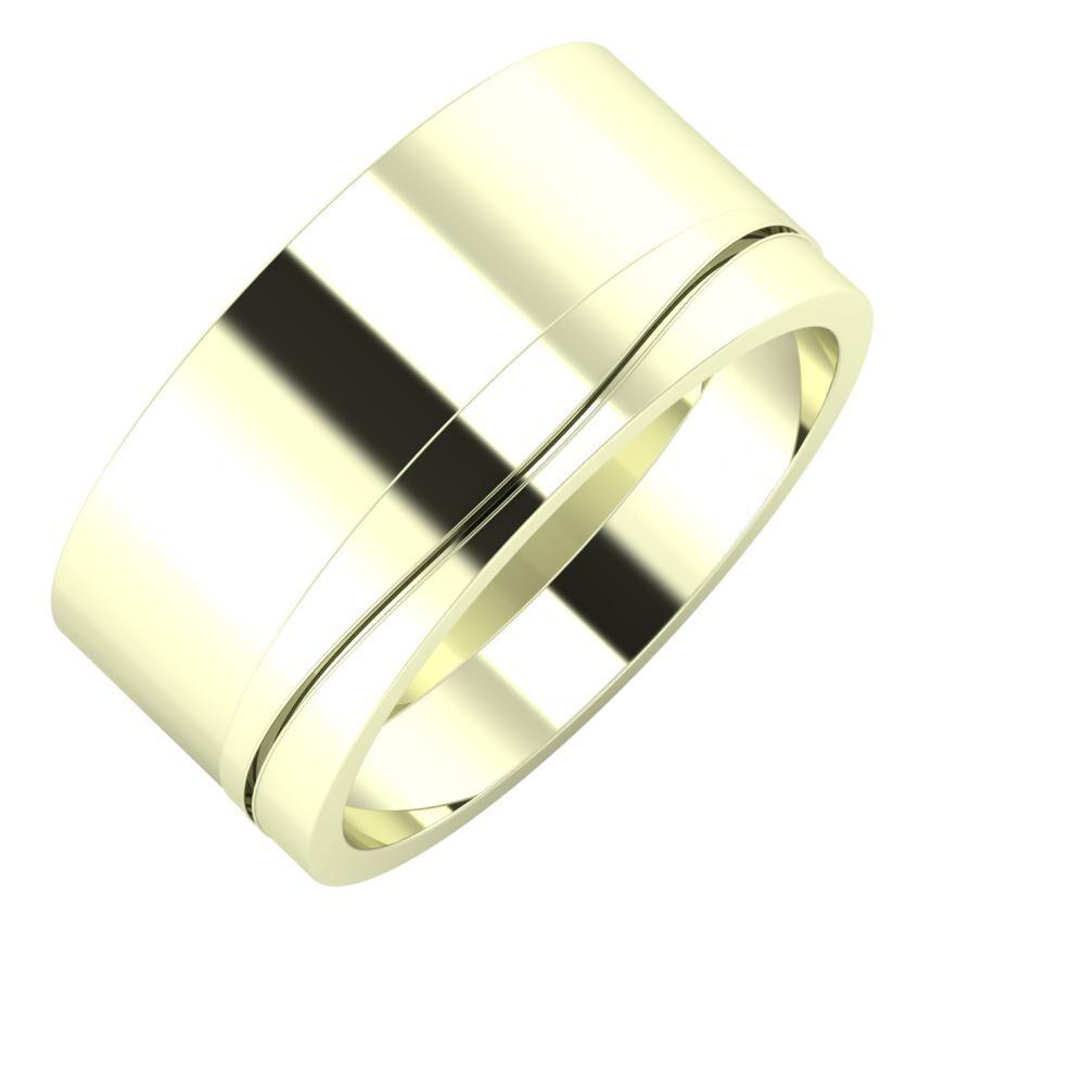 Adela - Adelinda 10mm 22 karátos fehér arany karikagyűrű