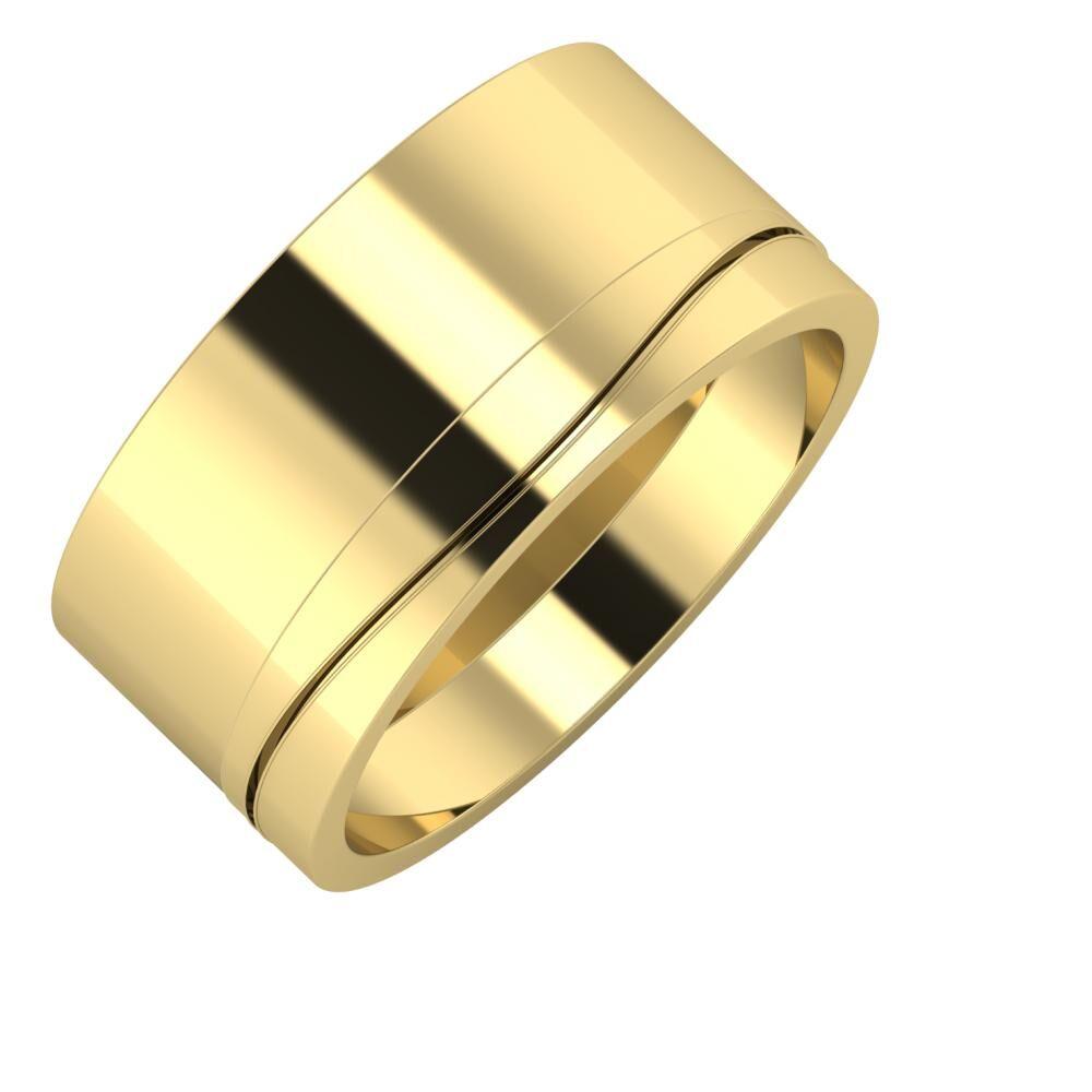 Adela - Adelinda 10mm 14 karátos sárga arany karikagyűrű