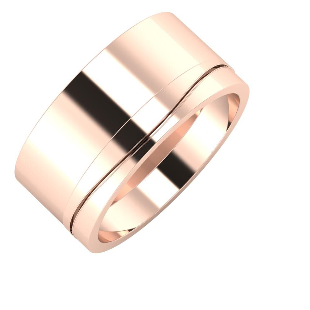 Adela - Adelinda 10mm 18 karátos rosé arany karikagyűrű