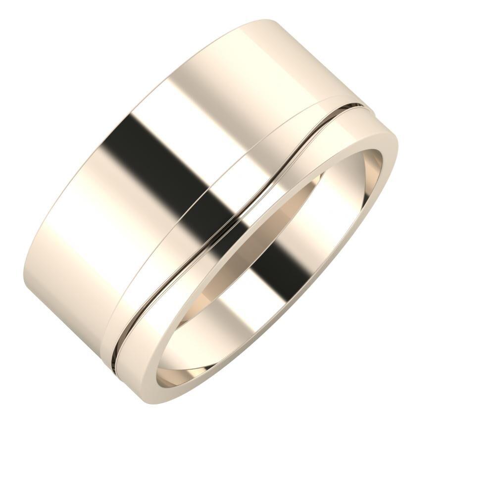 Adela - Adelinda 10mm 22 karátos rosé arany karikagyűrű