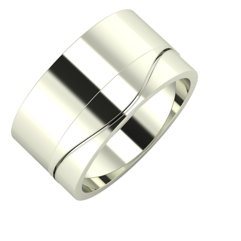 Adela - Adelinda 11mm 18 karátos fehér arany karikagyűrű