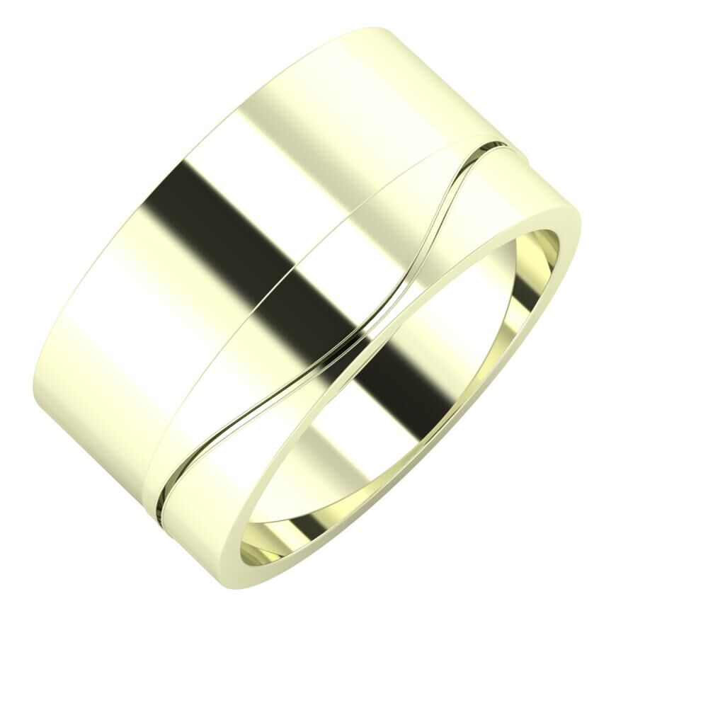 Adela - Adelinda 11mm 22 karátos fehér arany karikagyűrű