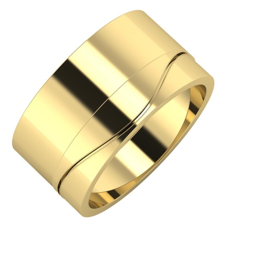 Adela - Adelinda 11mm 14 karátos sárga arany karikagyűrű
