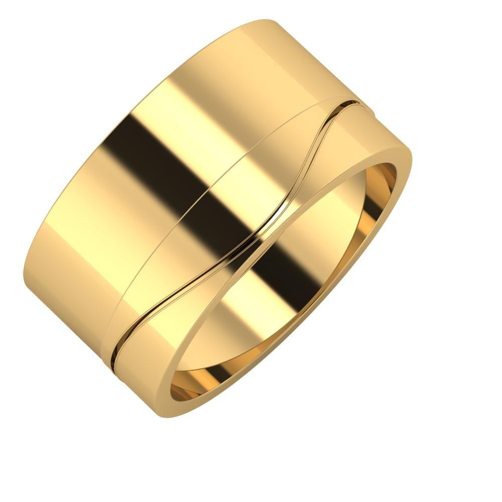 Adela - Adelinda 11mm 18 karátos sárga arany karikagyűrű