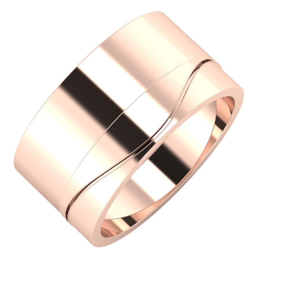 Adela - Adelinda 11mm 14 karátos rosé arany karikagyűrű