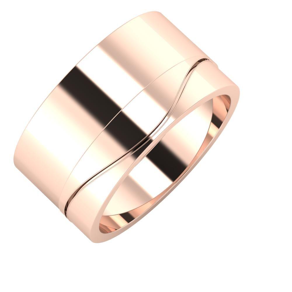 Adela - Adelinda 11mm 18 karátos rosé arany karikagyűrű