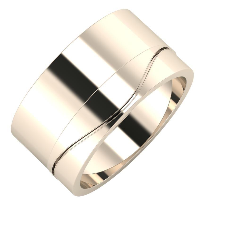 Adela - Adelinda 11mm 22 karátos rosé arany karikagyűrű