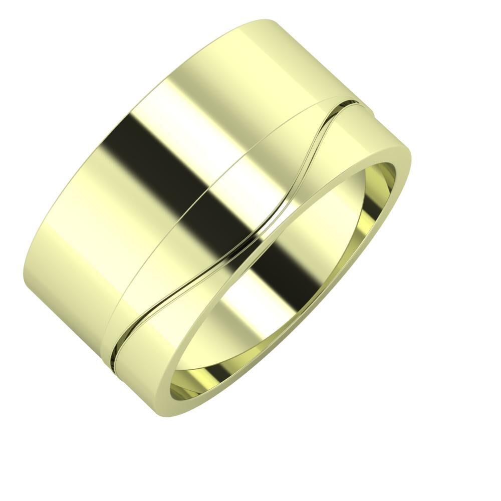 Adela - Adelinda 11mm 14 karátos zöld arany karikagyűrű