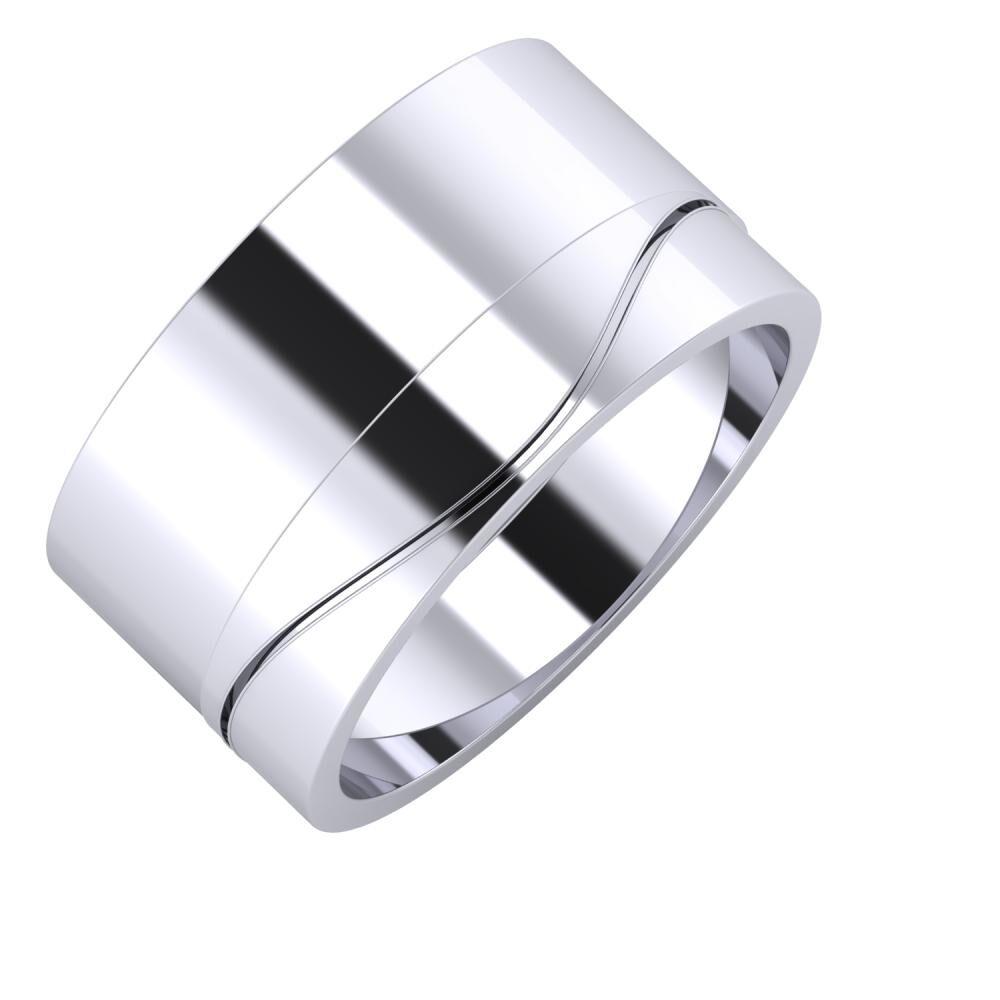 Adela - Adelinda 11mm platina karikagyűrű