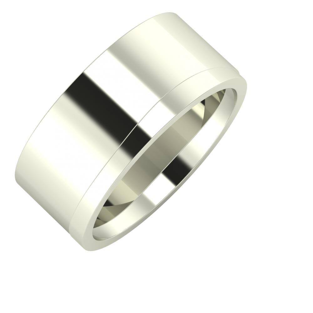 Adela - Adria 9mm 14 karátos fehér arany karikagyűrű