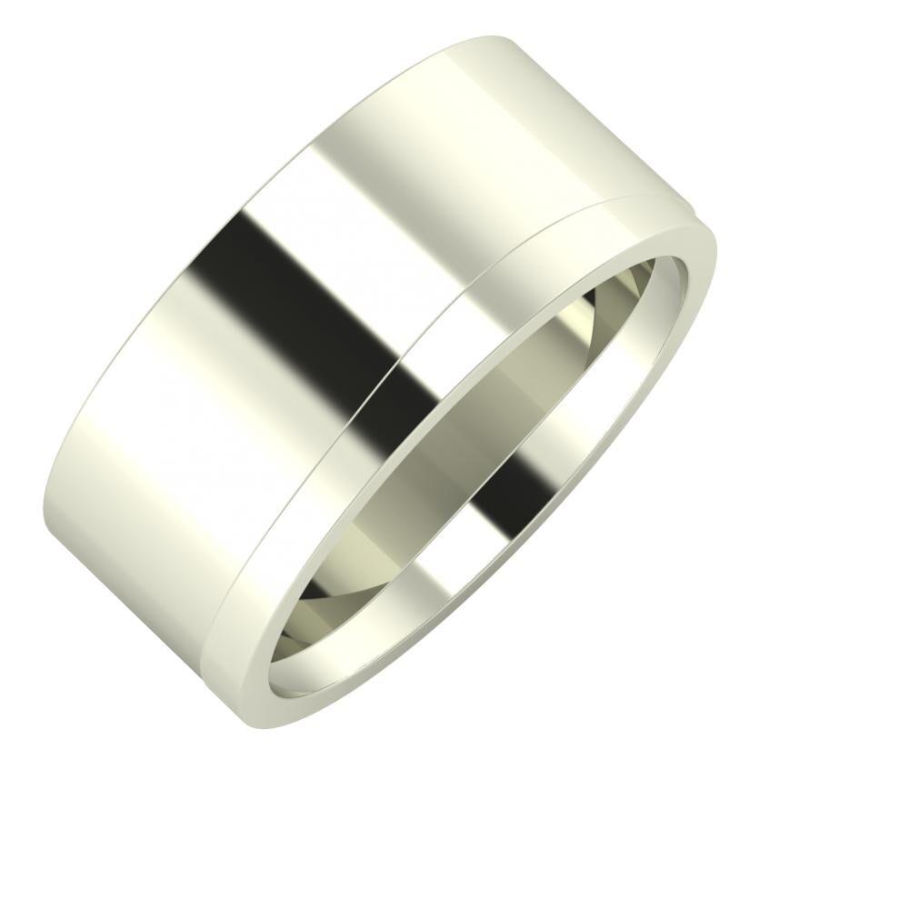 Adela - Adria 9mm 18 karátos fehér arany karikagyűrű