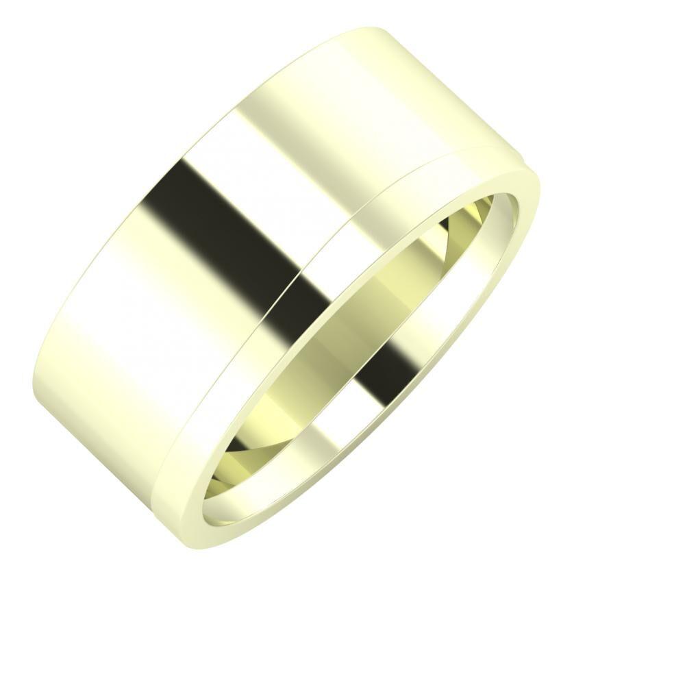Adela - Adria 9mm 22 karátos fehér arany karikagyűrű