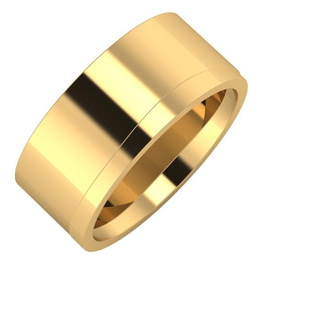 Adela - Adria 9mm 18 karátos sárga arany karikagyűrű