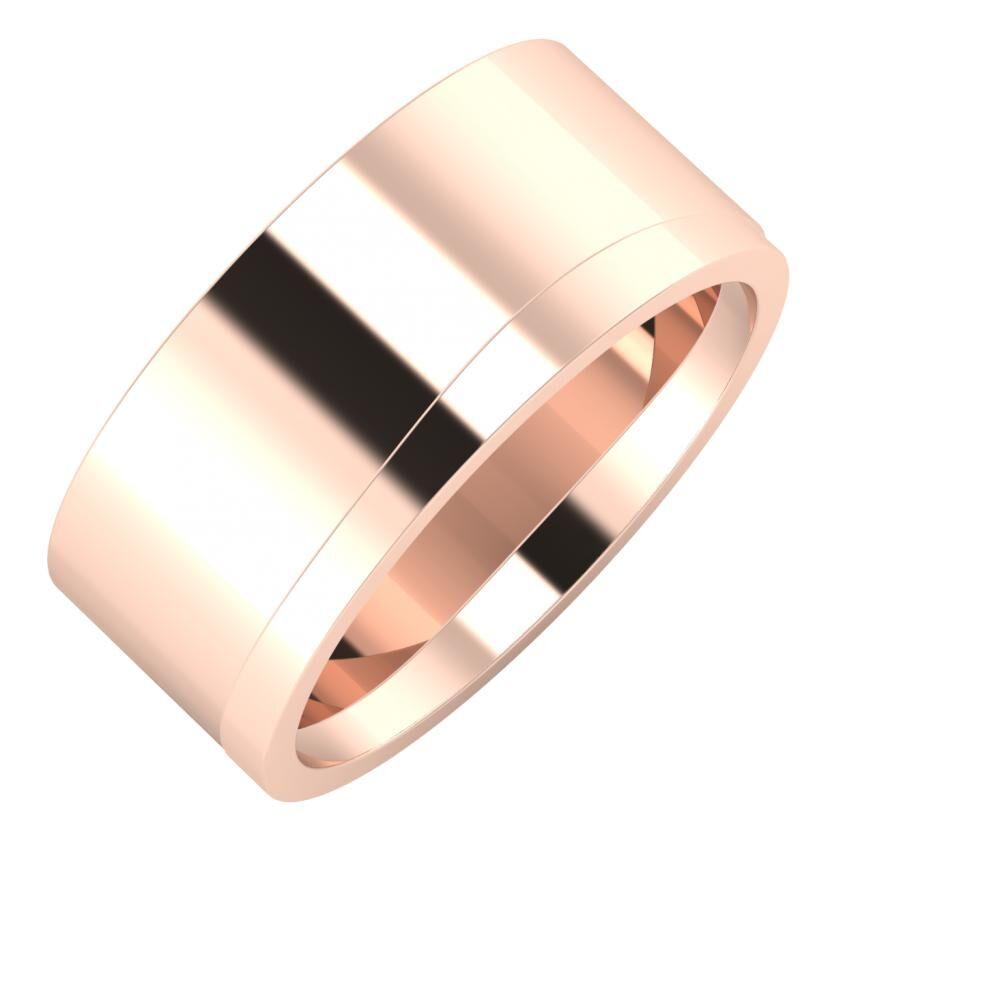Adela - Adria 9mm 18 karátos rosé arany karikagyűrű