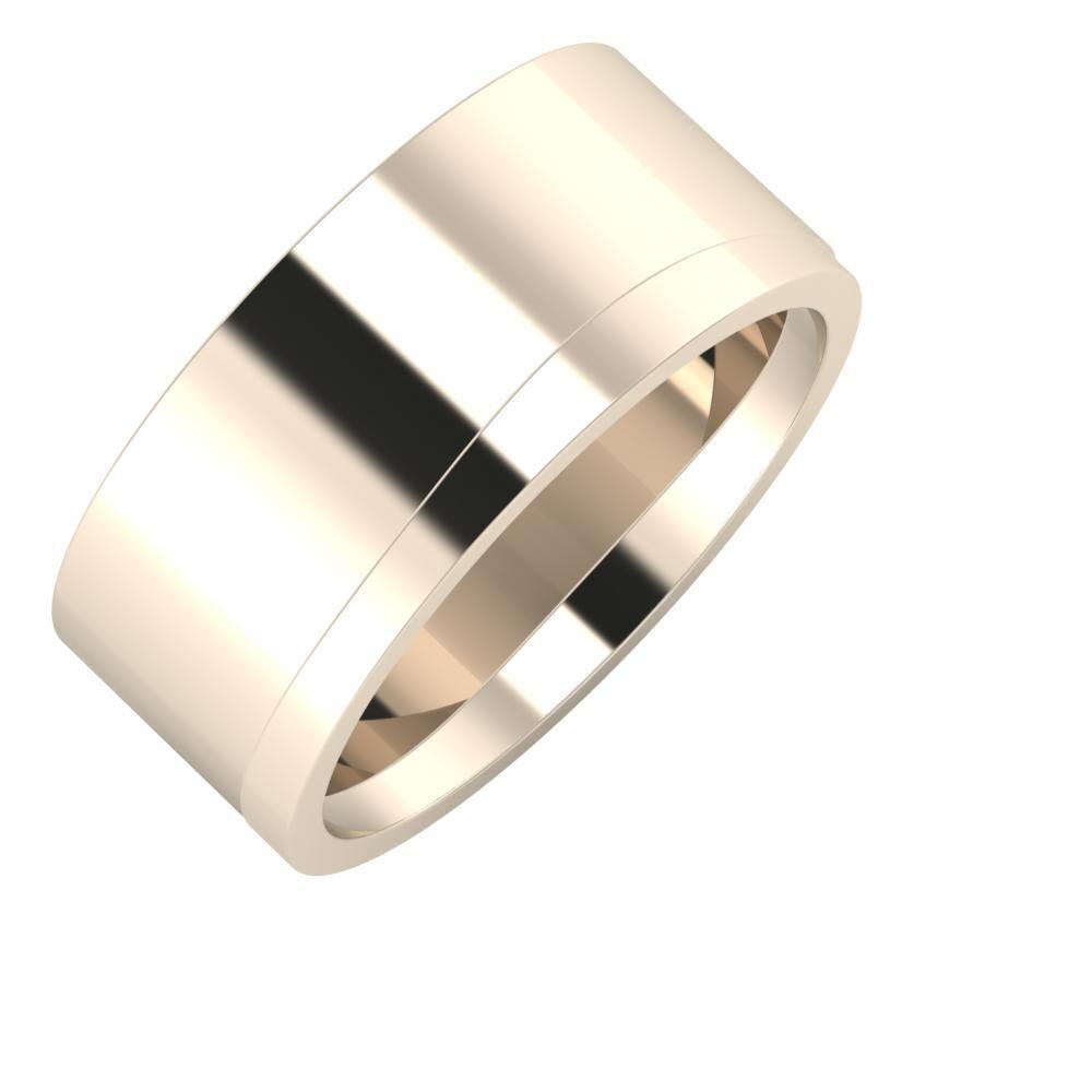 Adela - Adria 9mm 22 karátos rosé arany karikagyűrű
