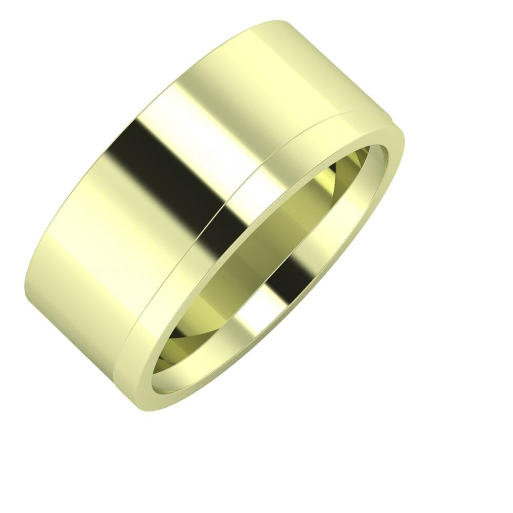 Adela - Adria 9mm 14 karátos zöld arany karikagyűrű