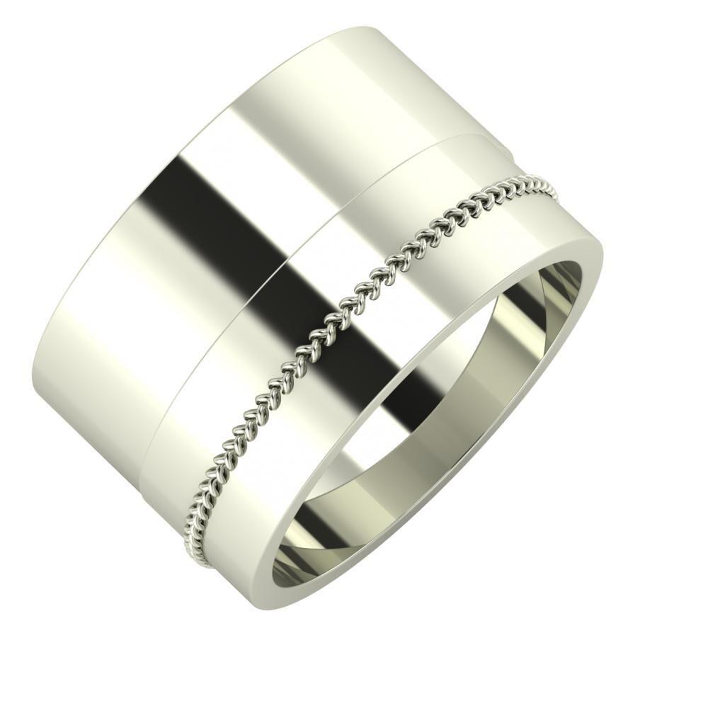 Adela - Áfonya 13mm 14 karátos fehér arany karikagyűrű
