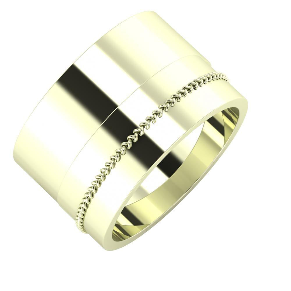 Adela - Áfonya 13mm 22 karátos fehér arany karikagyűrű