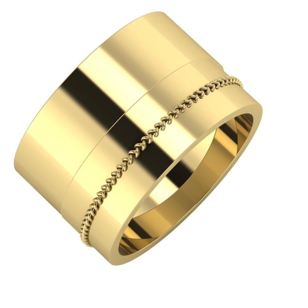 Adela - Áfonya 13mm 14 karátos sárga arany karikagyűrű