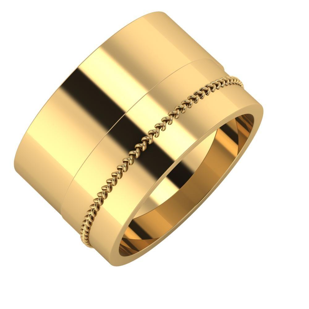 Adela - Áfonya 13mm 18 karátos sárga arany karikagyűrű