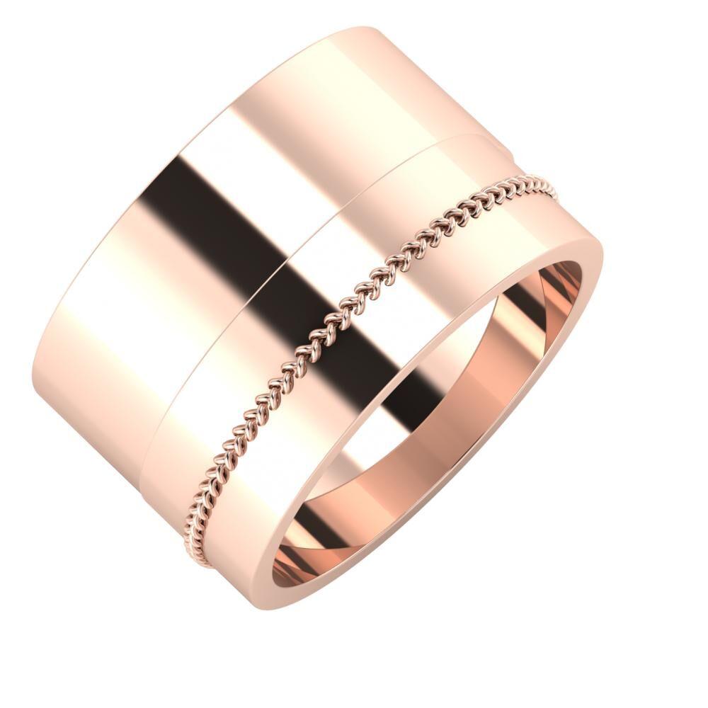 Adela - Áfonya 13mm 14 karátos rosé arany karikagyűrű