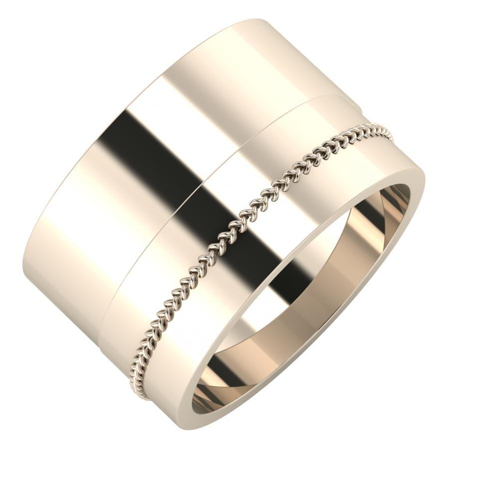 Adela - Áfonya 13mm 22 karátos rosé arany karikagyűrű