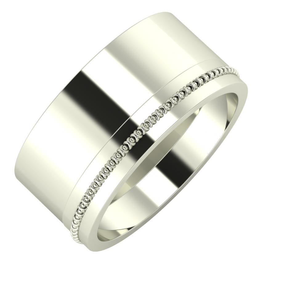 Adela - Afrodita 10mm 14 karátos fehér arany karikagyűrű