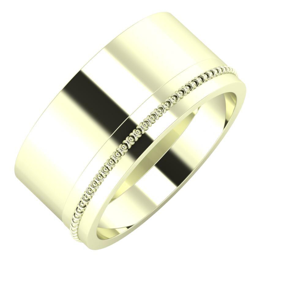 Adela - Afrodita 10mm 22 karátos fehér arany karikagyűrű